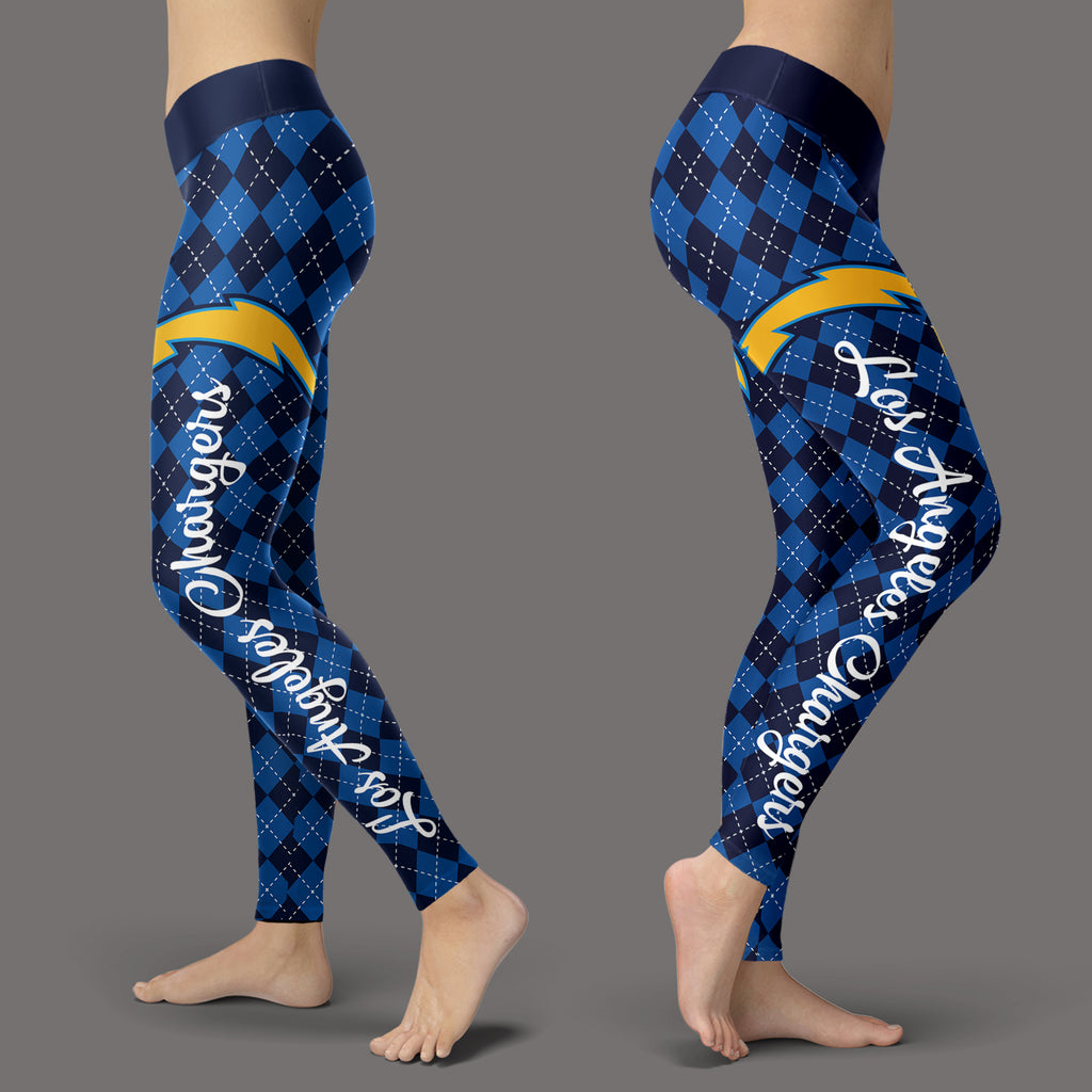 Cosy Seamless Border Wonderful Los Angeles Chargers Leggings