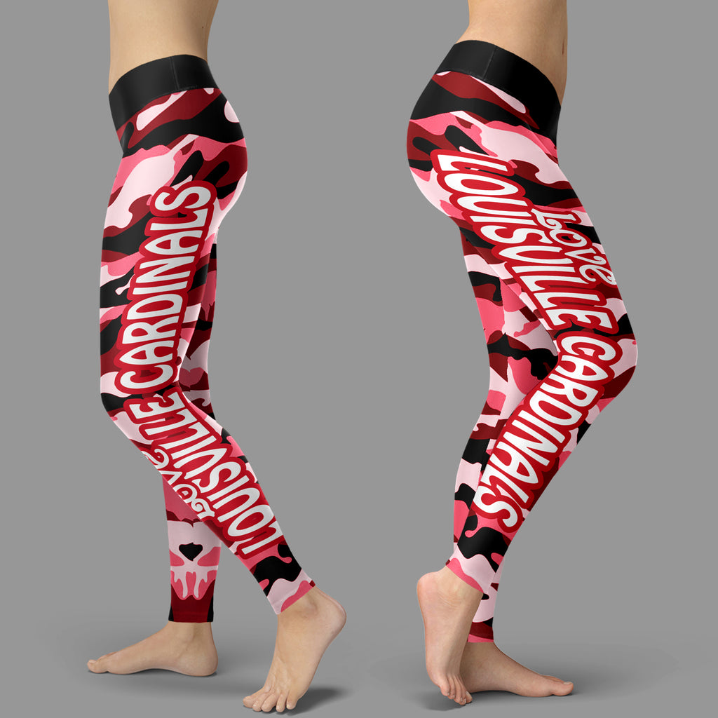 Camo Sporty Trending Fashion Fabulous Louisville Cardinals Leggings