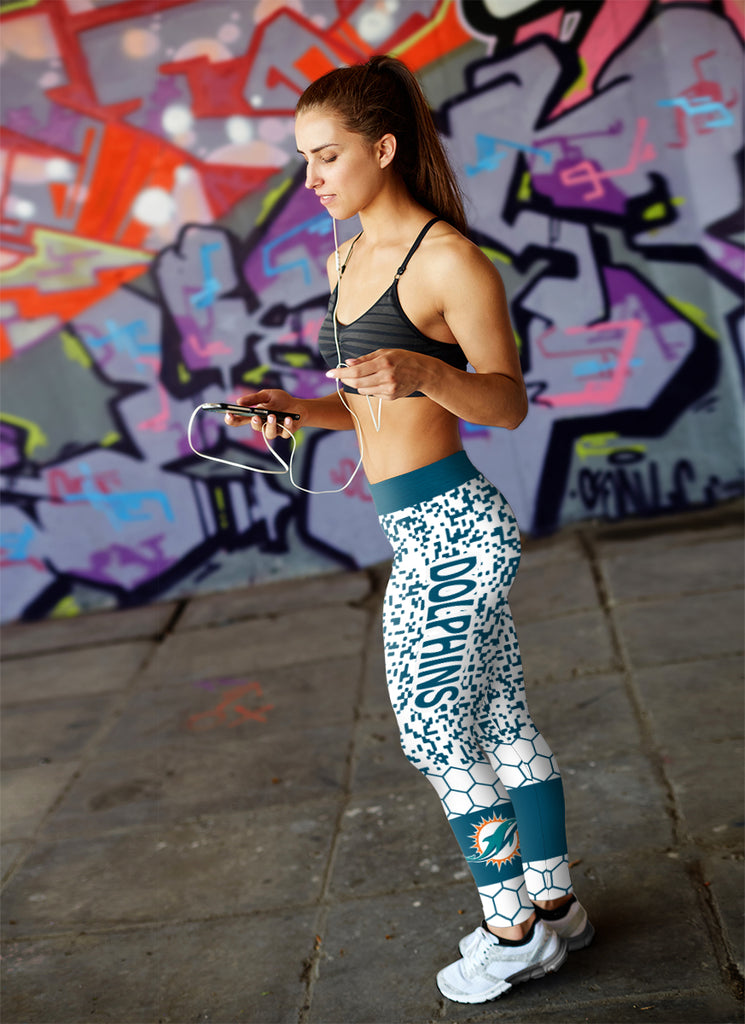 Incredible Patterns Luxury Nice Miami Dolphins Leggings