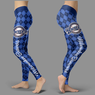 Cosy Seamless Border Wonderful Milwaukee Brewers Leggings
