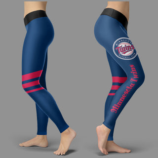 Through Great Logo Spread Body Striped Circle Minnesota Twins Leggings