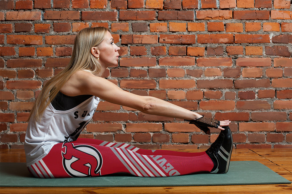 Straight Cute Beautiful Attractive New Jersey Devils Leggings