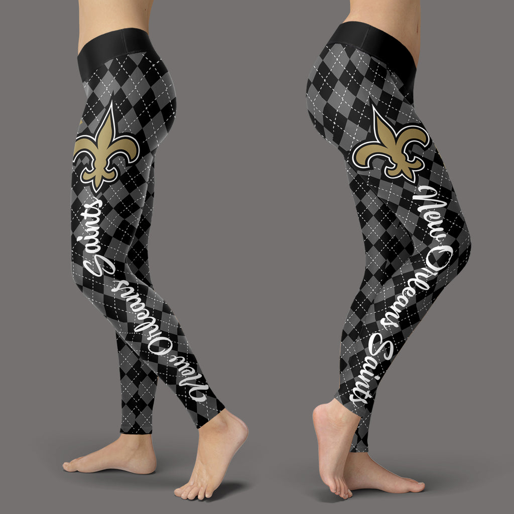 Cosy Seamless Border Wonderful New Orleans Saints Leggings