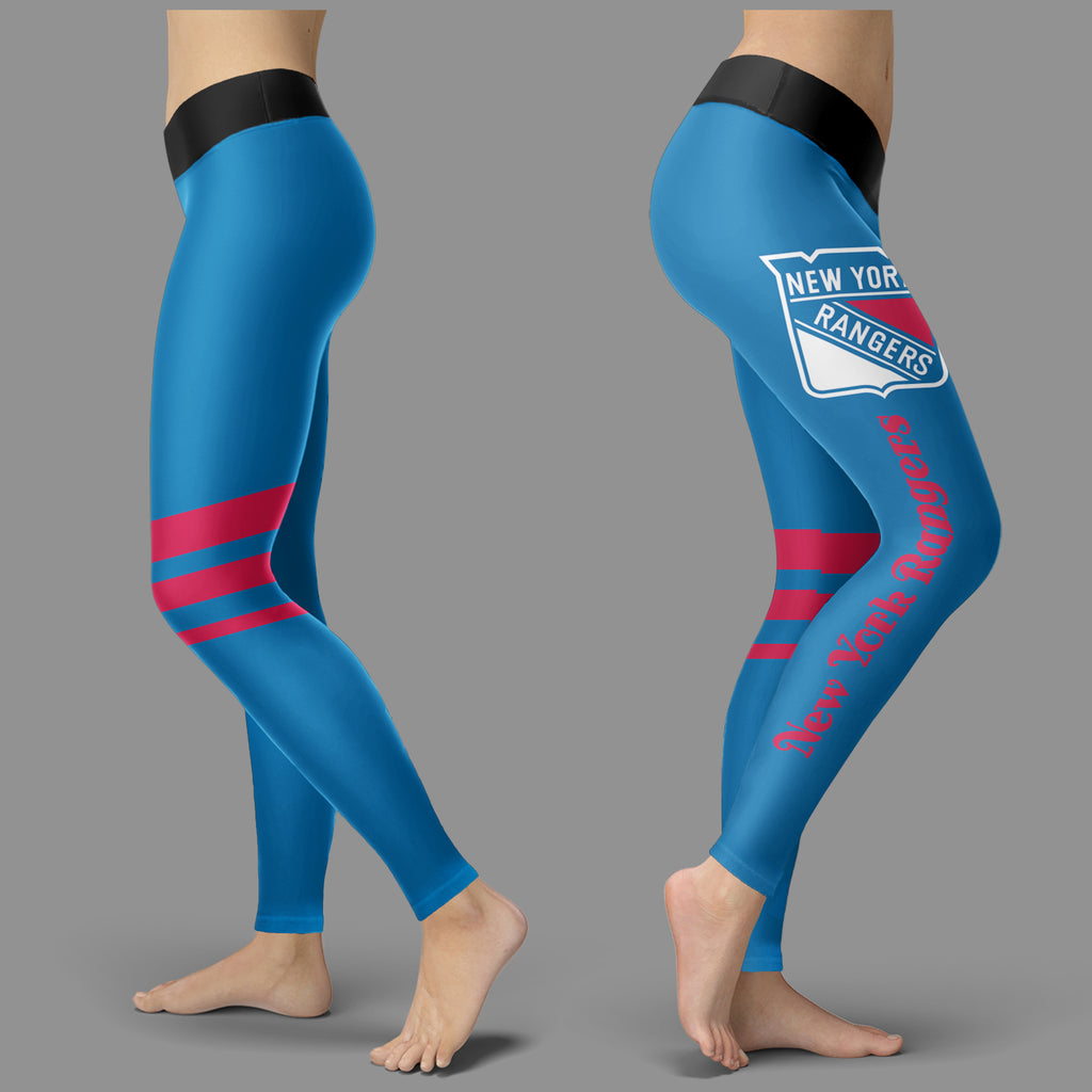 Through Great Logo Spread Body Striped Circle New York Rangers Leggings