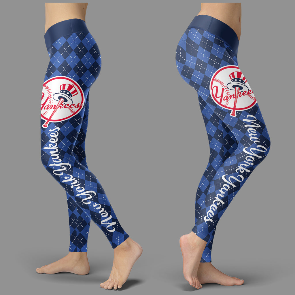 Cosy Seamless Border Wonderful New York Yankees Leggings