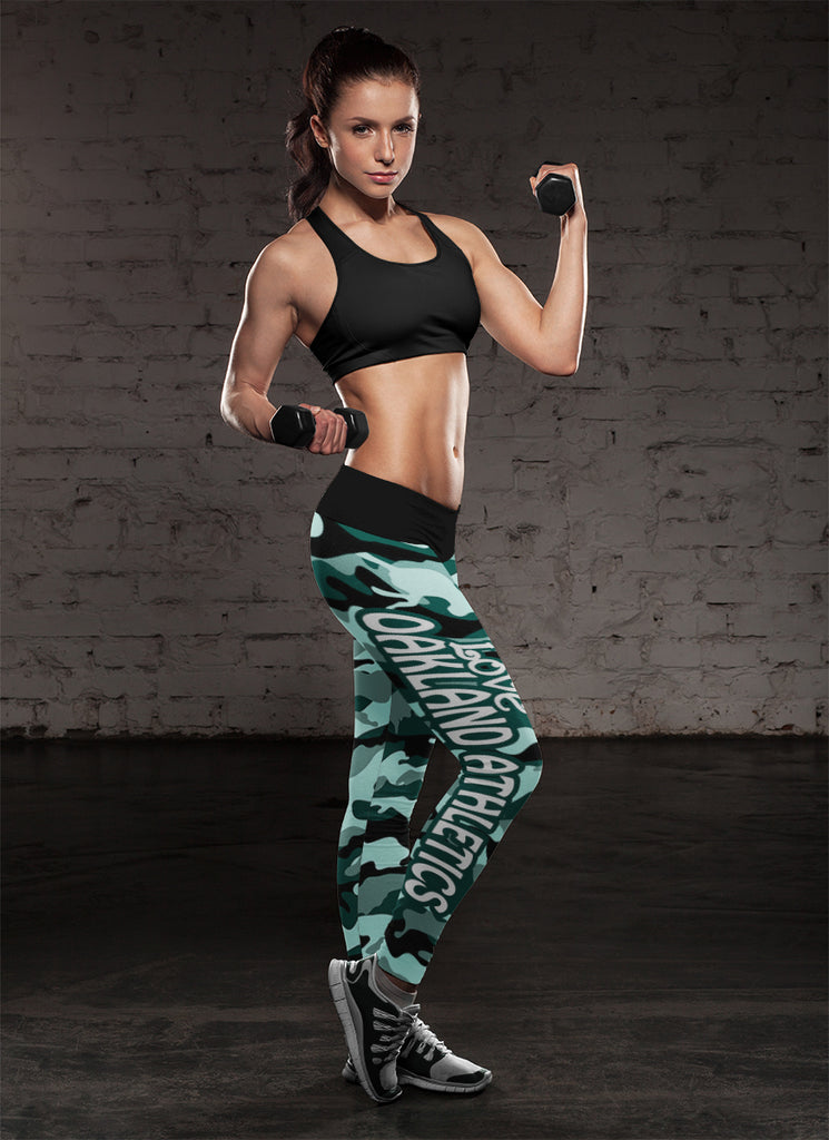 Camo Sporty Trending Fashion Fabulous Oakland Athletics Leggings