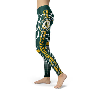 Cool Air Lighten Attractive Kind Oakland Athletics Leggings
