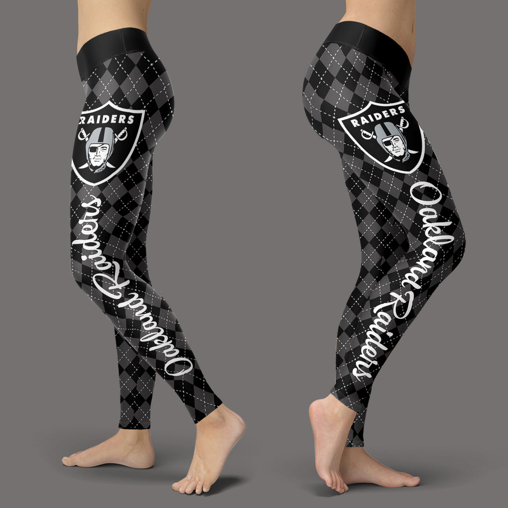 Cosy Seamless Border Wonderful Oakland Raiders Leggings
