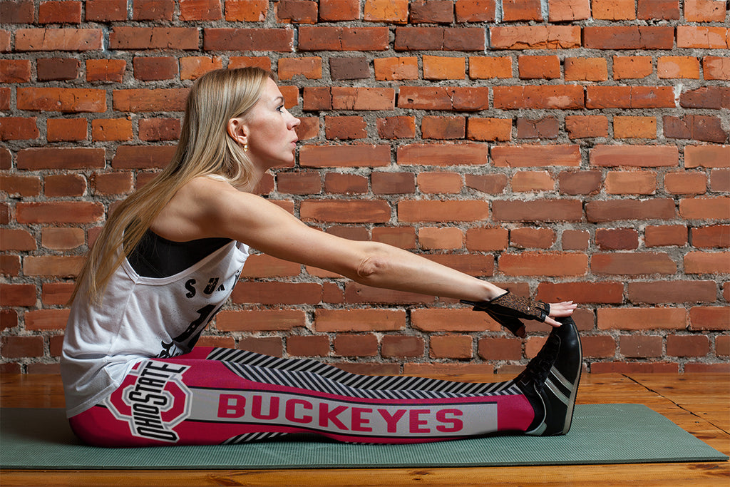 Fashion Gorgeous Fitting Fabulous Ohio State Buckeyes Leggings
