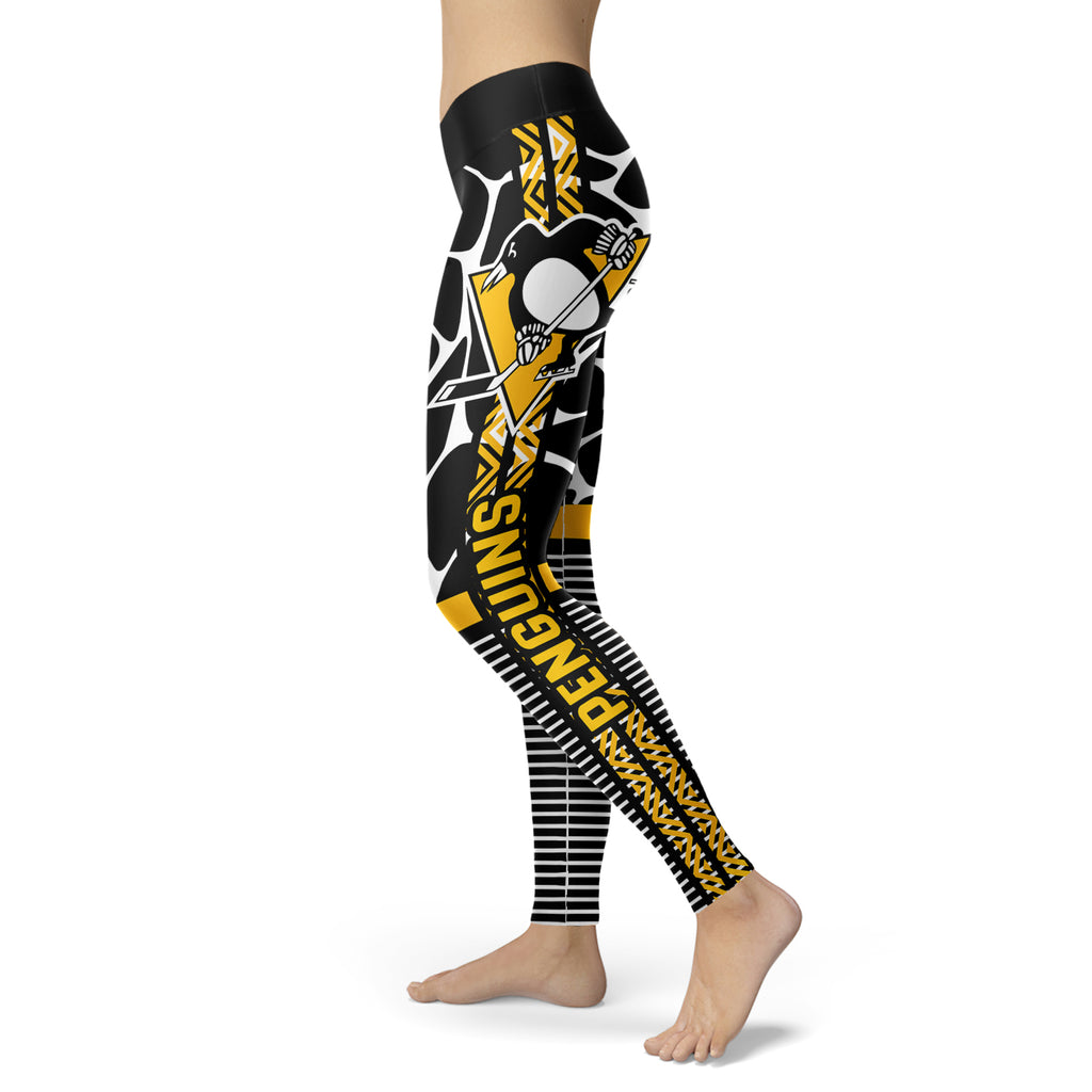 Cool Air Lighten Attractive Kind Pittsburgh Penguins Leggings