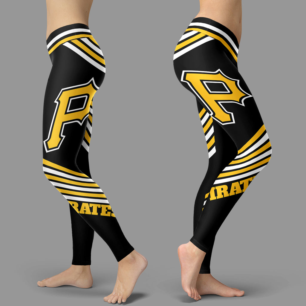 Straight Cute Beautiful Attractive Pittsburgh Pirates Leggings