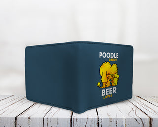 Poodle Daddy Beer Lover Men's Wallets