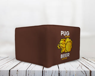 Pug Daddy Beer Lover Men's Wallets