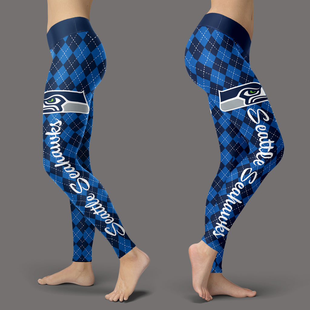 Cosy Seamless Border Wonderful Seattle Seahawks Leggings