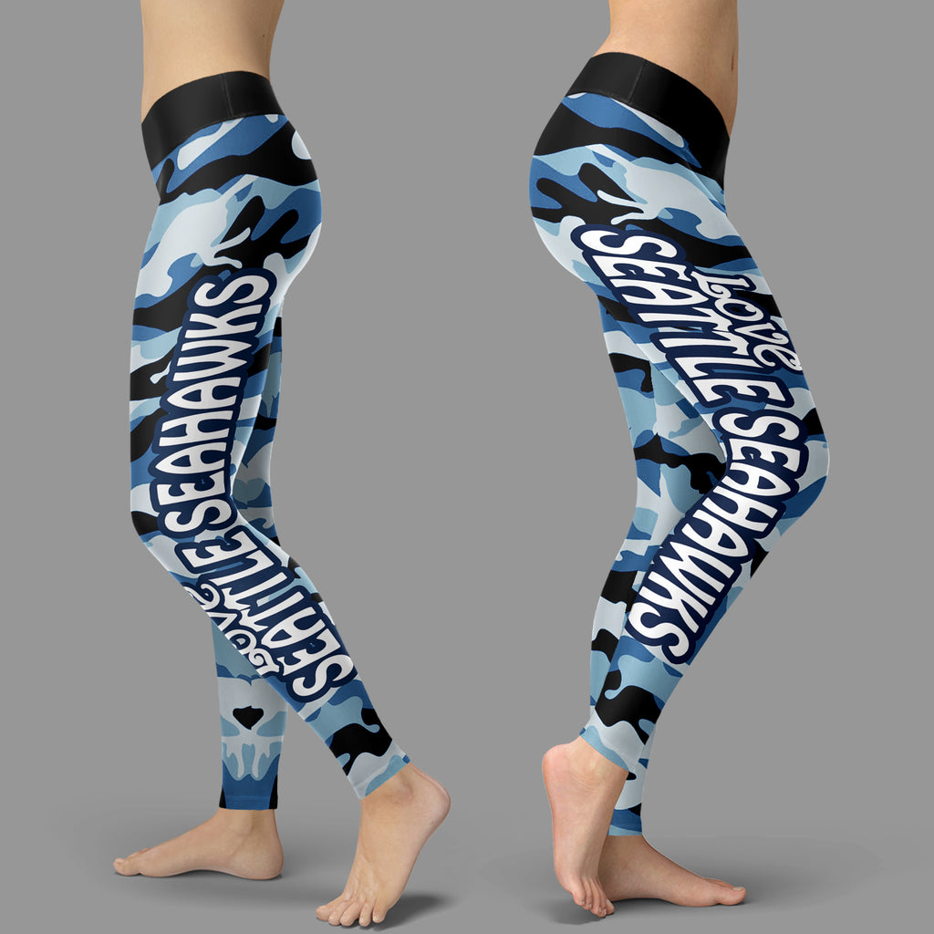 Camo Sporty Trending Fashion Fabulous Seattle Seahawks Leggings