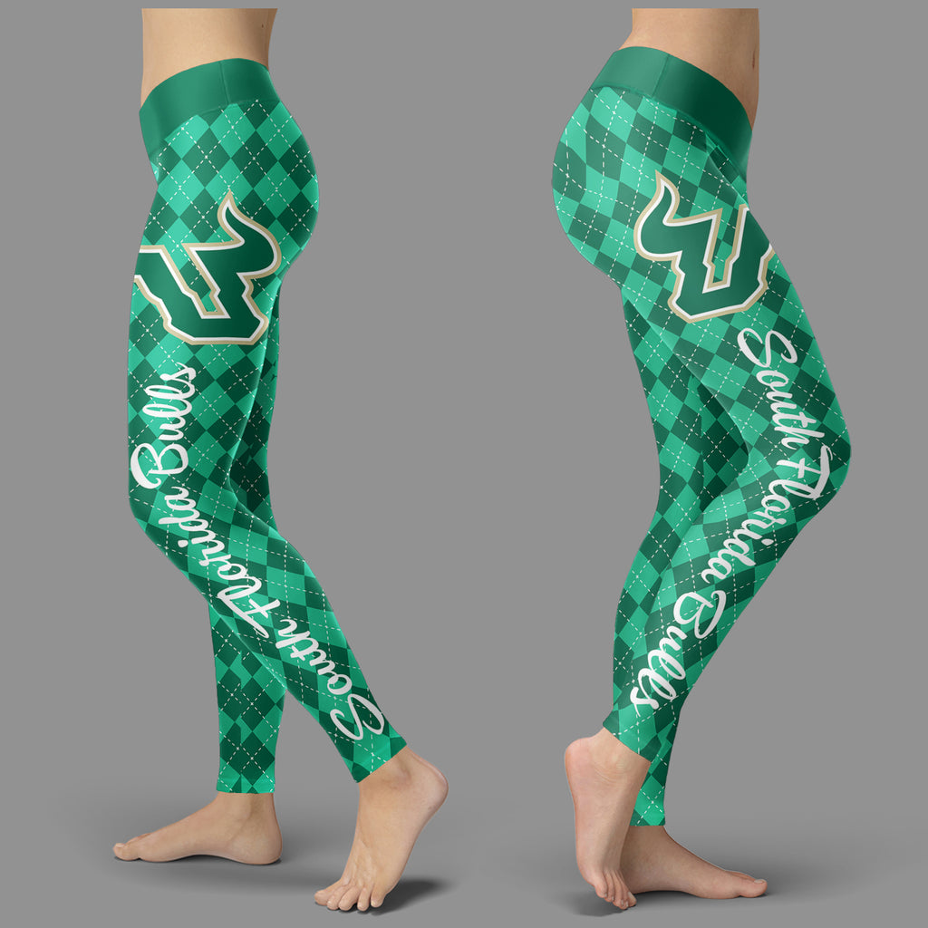 Cosy Seamless Border Wonderful South Florida Bulls Leggings