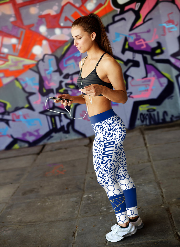Incredible Patterns Luxury Nice St. Louis Blues Leggings