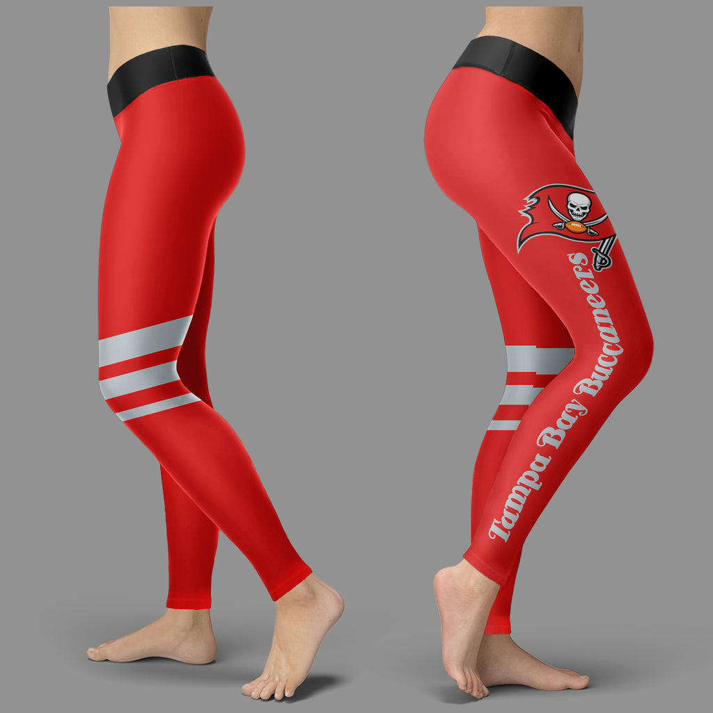 Through Great Logo Spread Body Striped Circle Tampa Bay Buccaneers Leggings