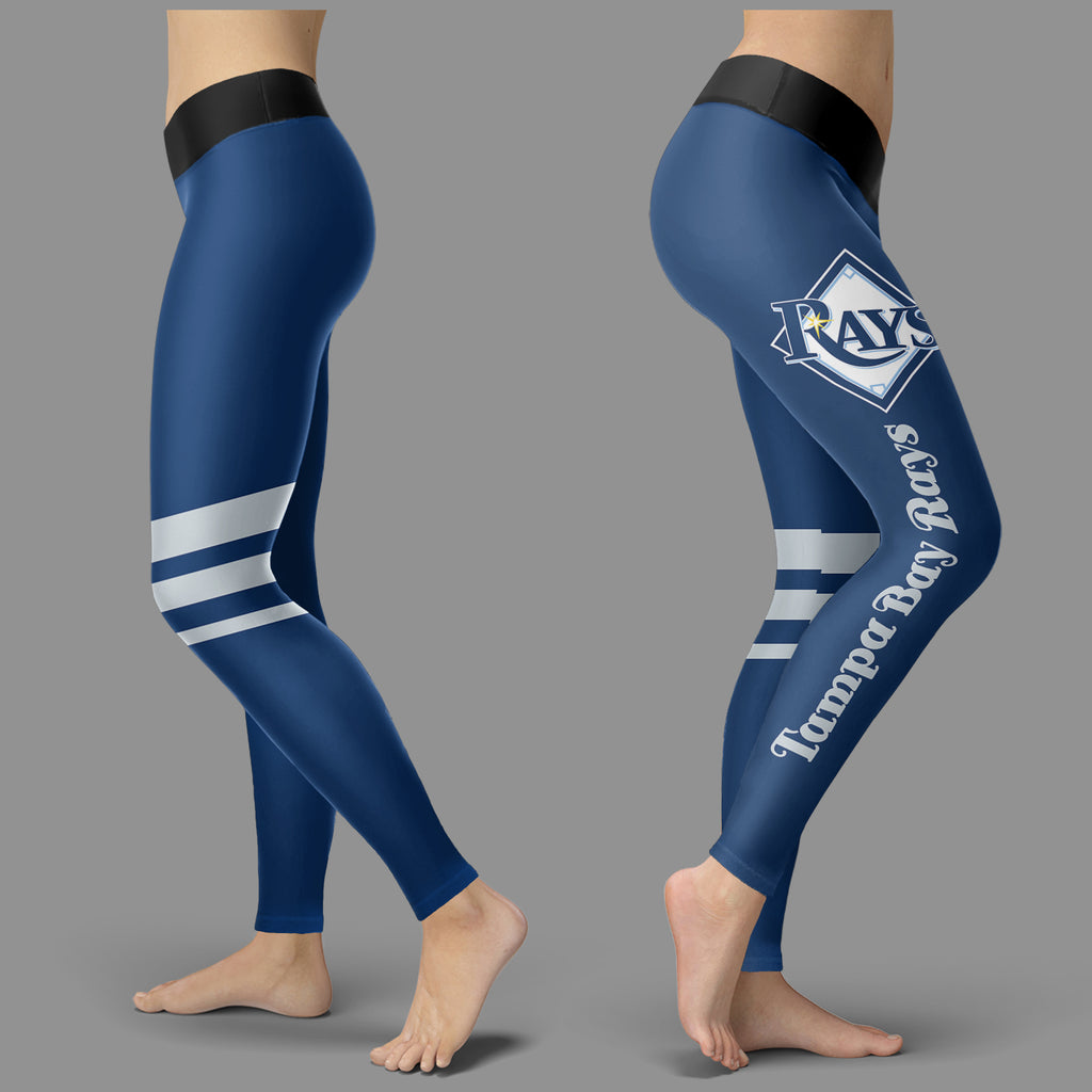 Through Great Logo Spread Body Striped Circle Tampa Bay Rays Leggings
