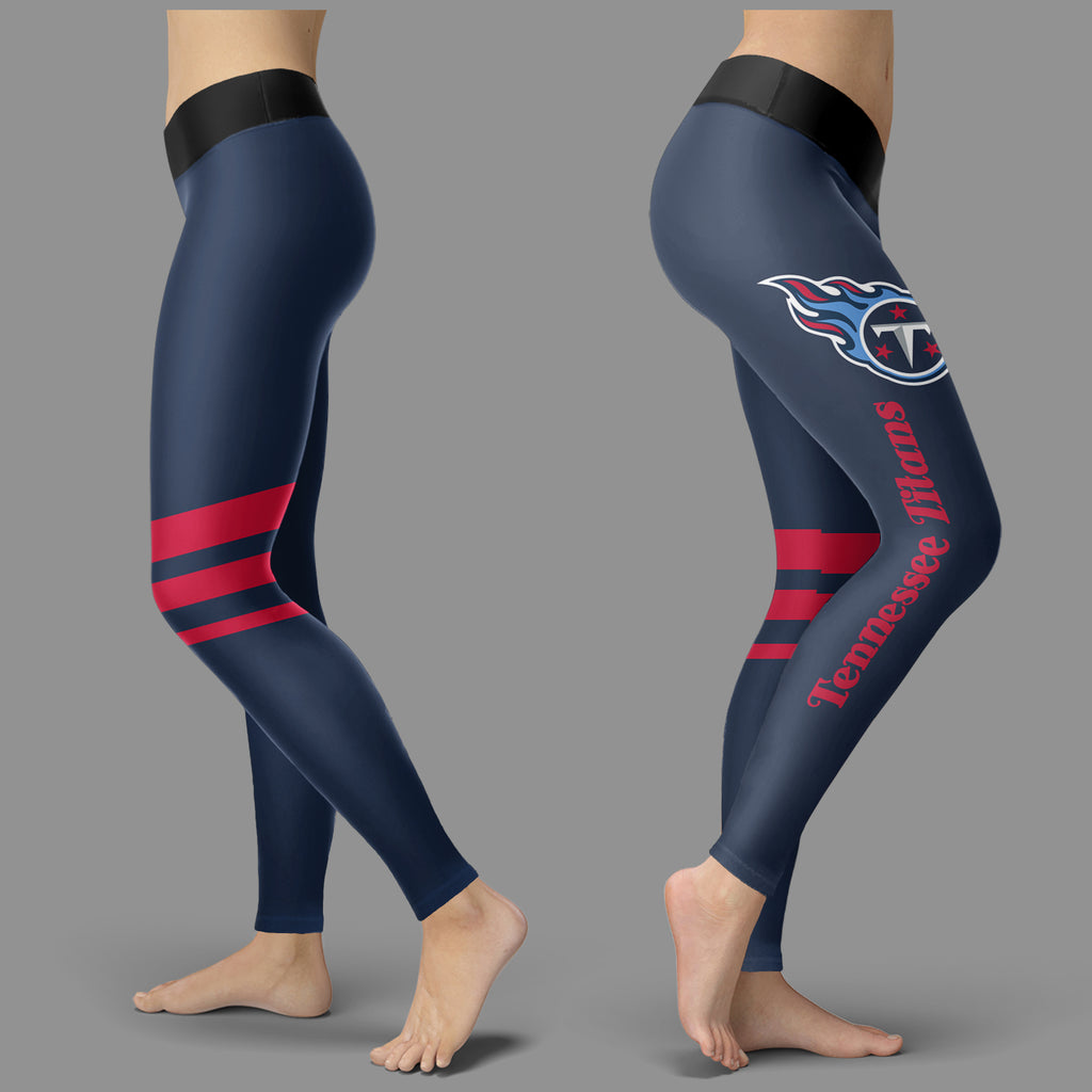 Through Great Logo Spread Body Striped Circle Tennessee Titans Leggings