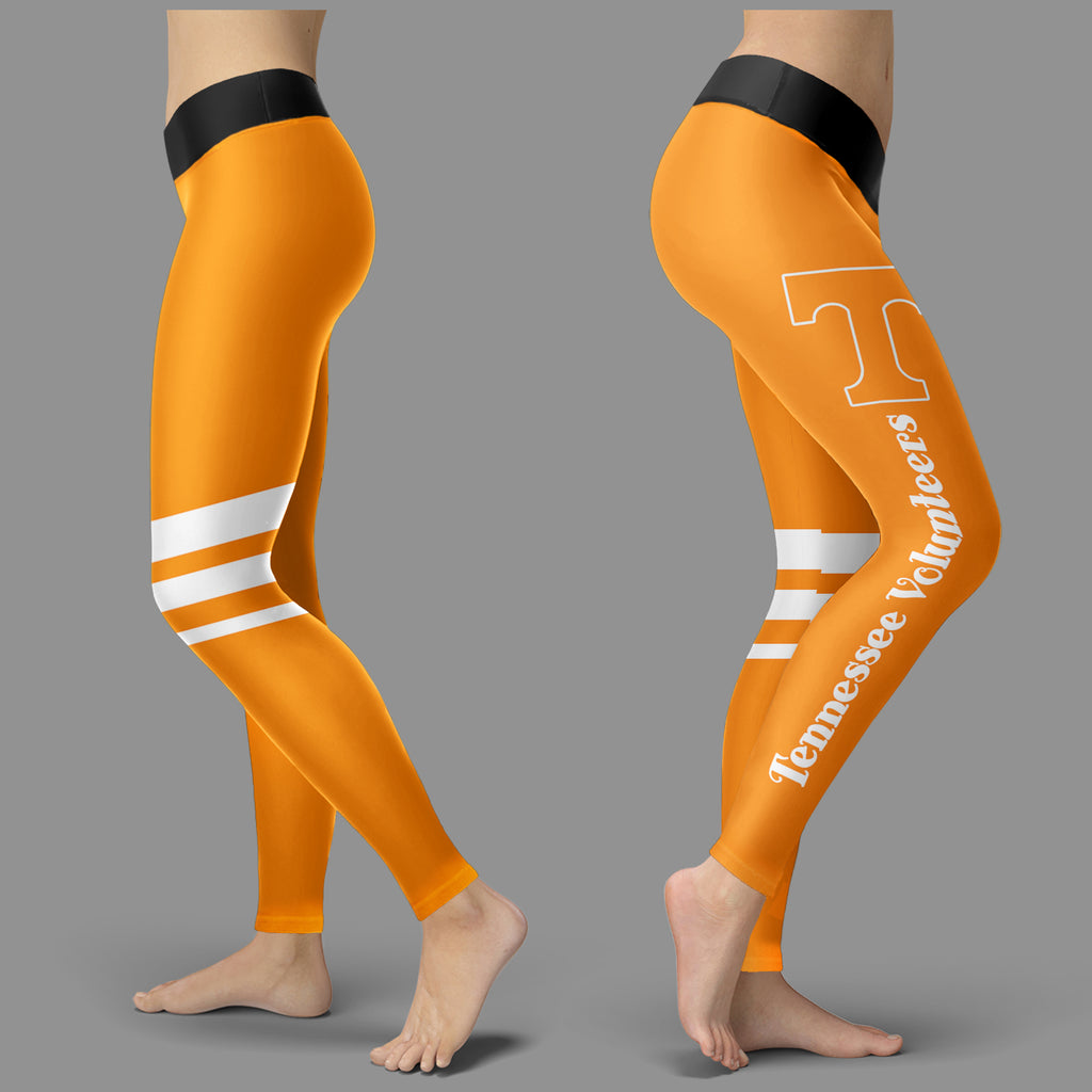 Through Great Logo Spread Body Striped Circle Tennessee Volunteers Leggings