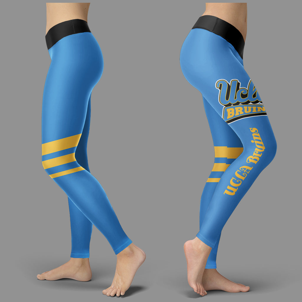 Through Great Logo Spread Body Striped Circle UCLA Bruins Leggings