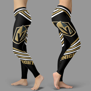 Straight Cute Beautiful Attractive Vegas Golden Knights Leggings