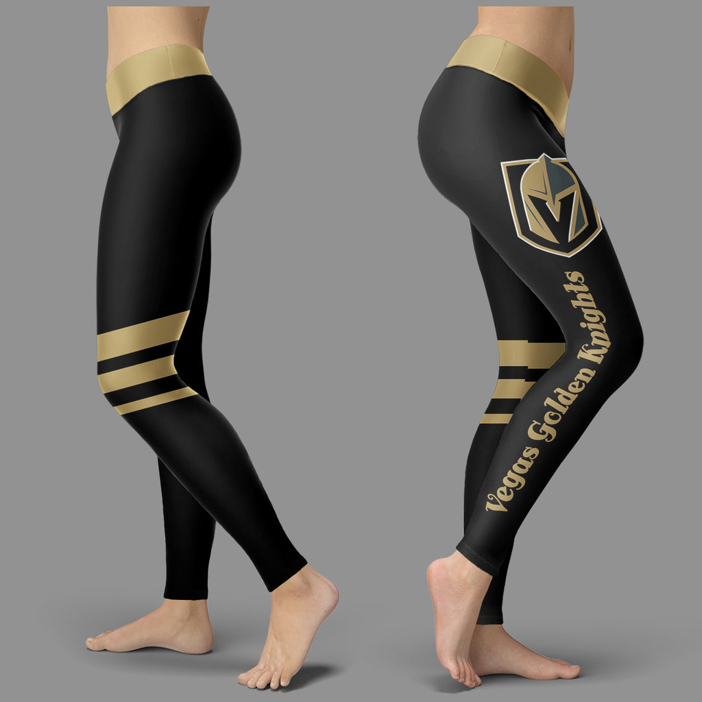 Through Great Logo Spread Body Striped Circle Vegas Golden Knights Leggings