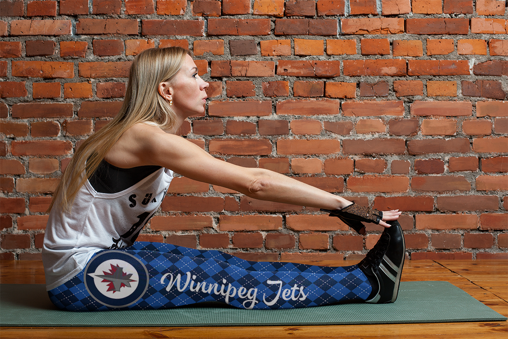Cosy Seamless Border Wonderful Winnipeg Jets Leggings