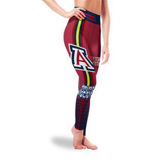Twins Logo Arizona Wildcats Leggings For Fans