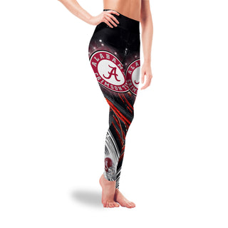 Great Urban Night Scene Alabama Crimson Tide Leggings