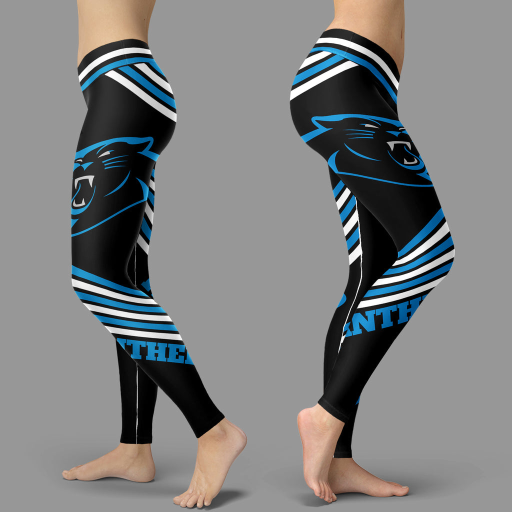 Straight Cute Beautiful Attractive Carolina Panthers Leggings