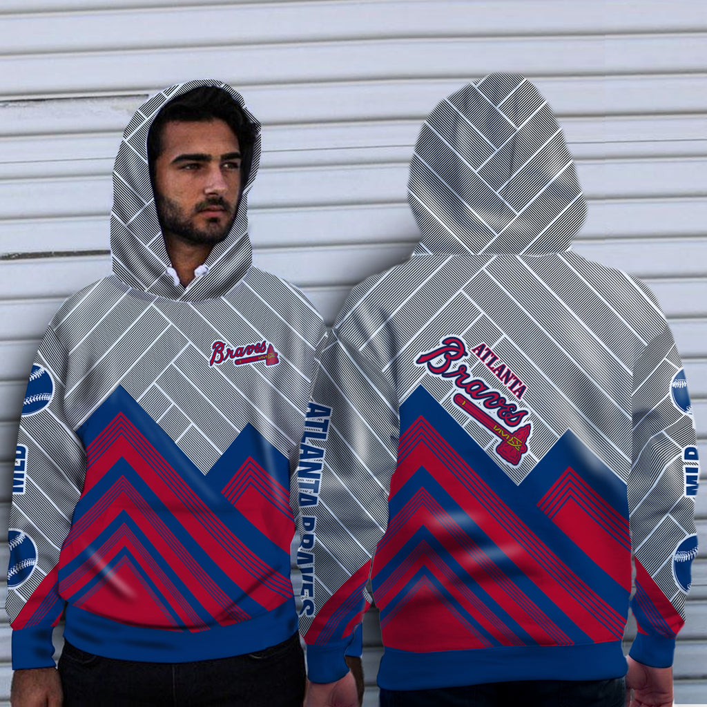 Black Cross Line Atlanta Braves Hoodie