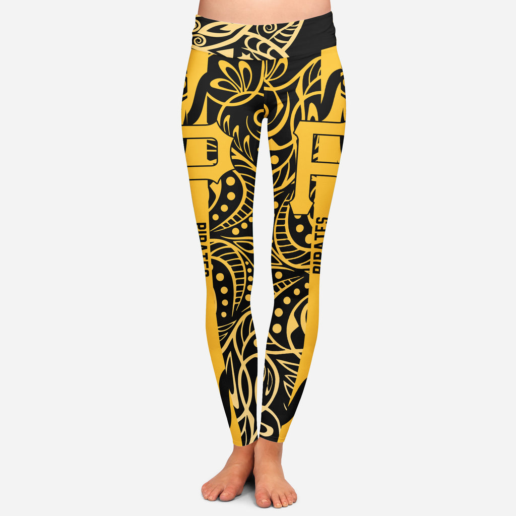 Curly Line Charming Daily Fashion Pittsburgh Pirates Leggings