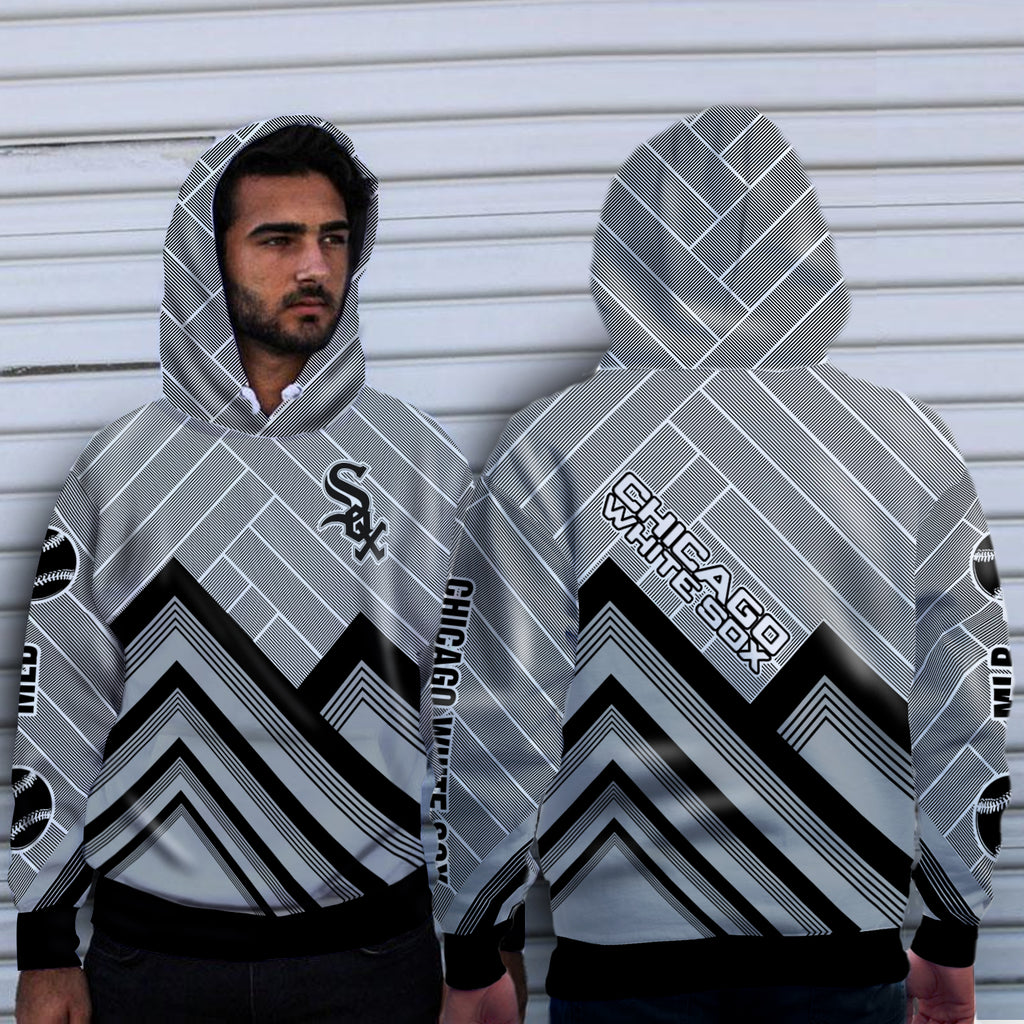 Black Cross Line Chicago White Sox Hoodie