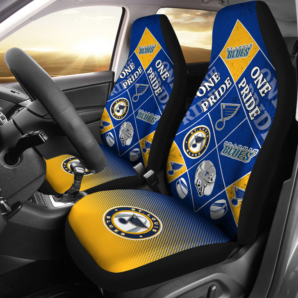 Pride Flag St. Louis Blues Car Seat Covers