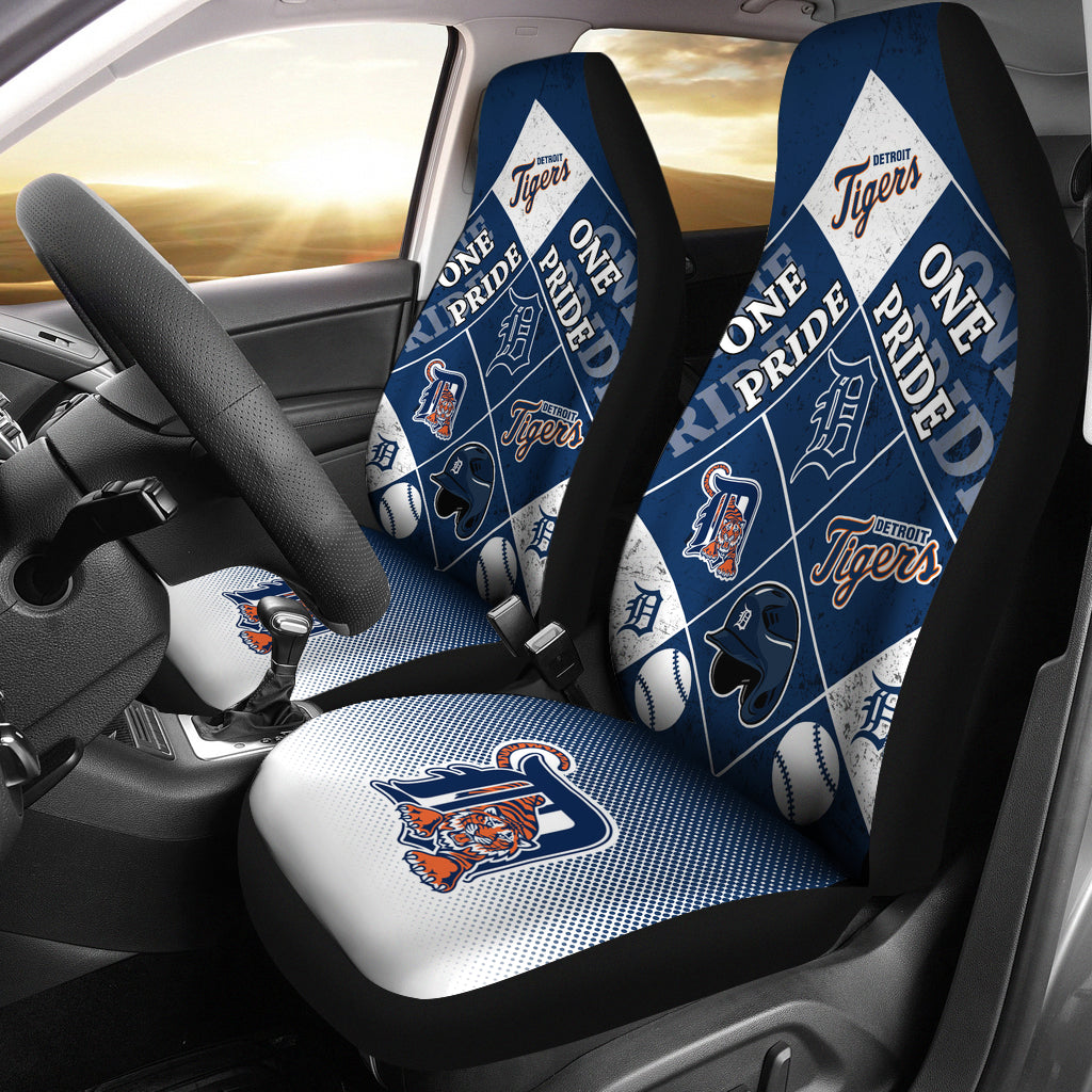 Pride Flag Detroit Tigers Car Seat Covers