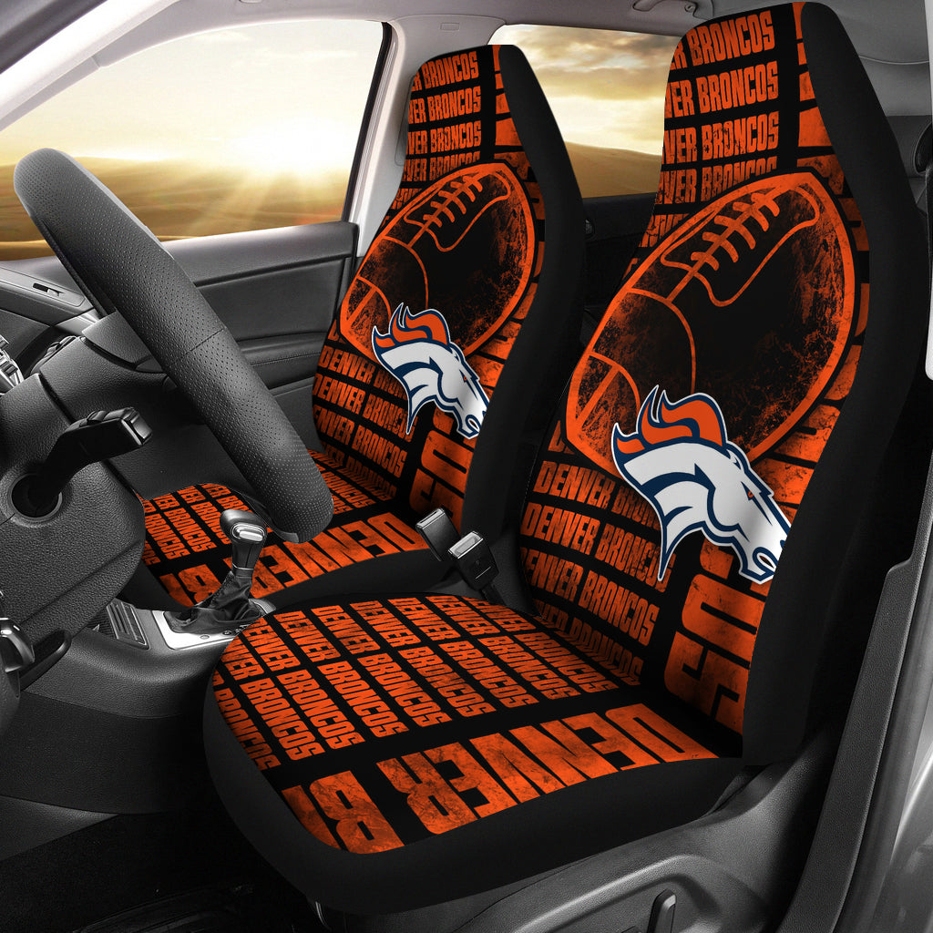 The Victory Denver Broncos Car Seat Covers