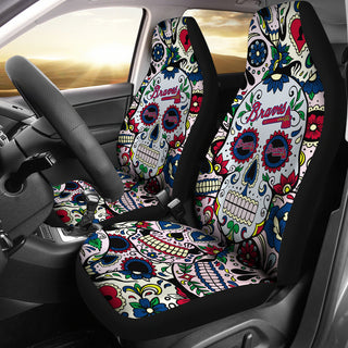Party Skull Atlanta Braves Car Seat Covers