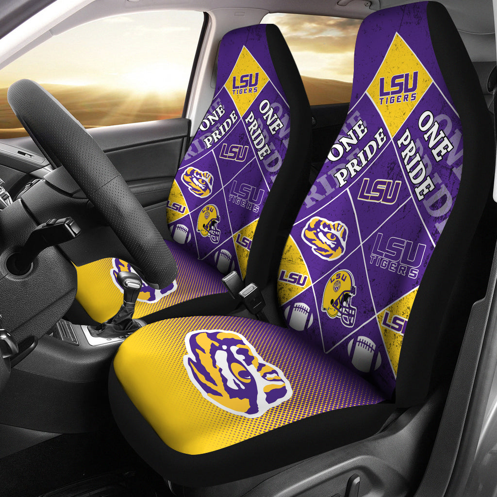 Pride Flag LSU Tigers Car Seat Covers