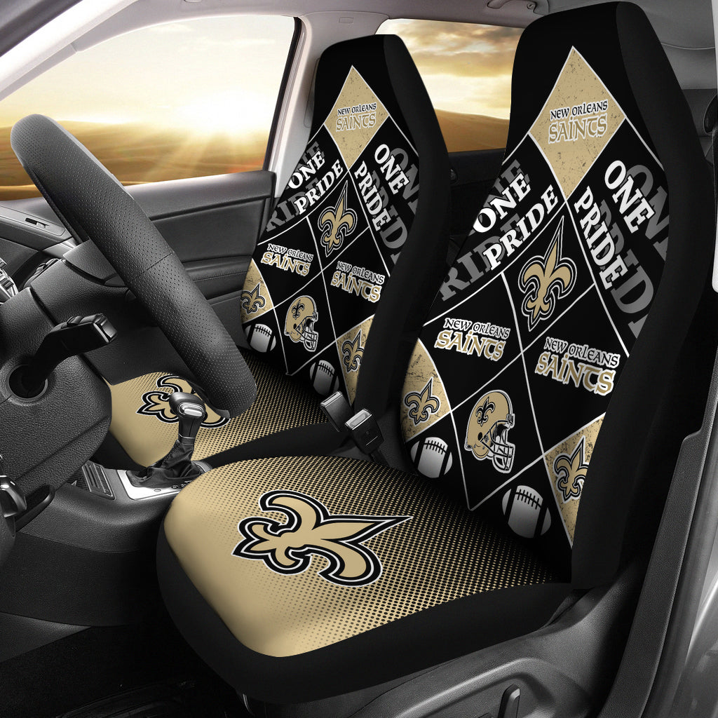 Pride Flag New Orleans Saints Car Seat Covers