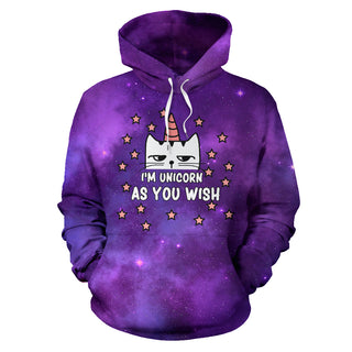 I'm Unicorn As You Wish Cat All Over Print Hoodies