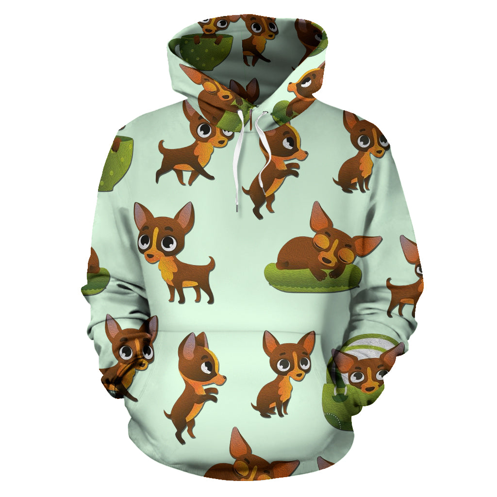 Pose Pattern Chihuahua All Over Print Hoodies V1