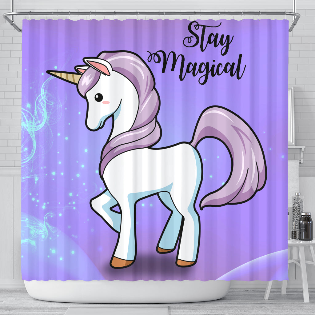 Stay Magical Unicorn Shower Curtains
