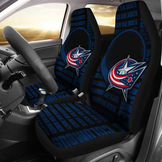 The Victory Columbus Blue Jackets Car Seat Covers