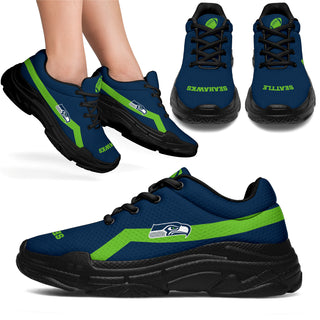 Edition Chunky Sneakers With Line Seattle Seahawks Shoes