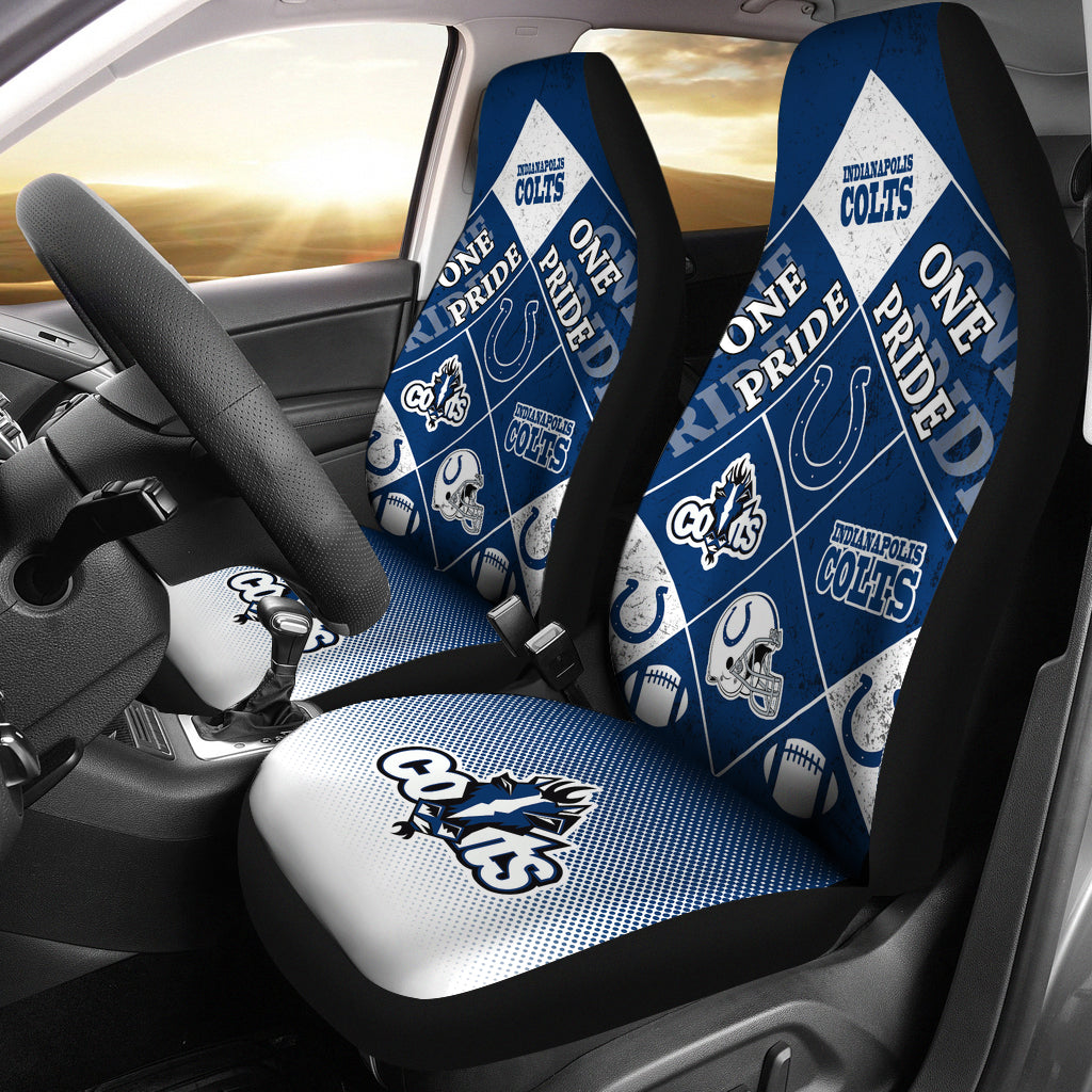 Pride Flag Indianapolis Colts Car Seat Covers