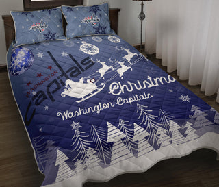 Merry Christmas Gift Washington Capitals Quilt Bed Sets