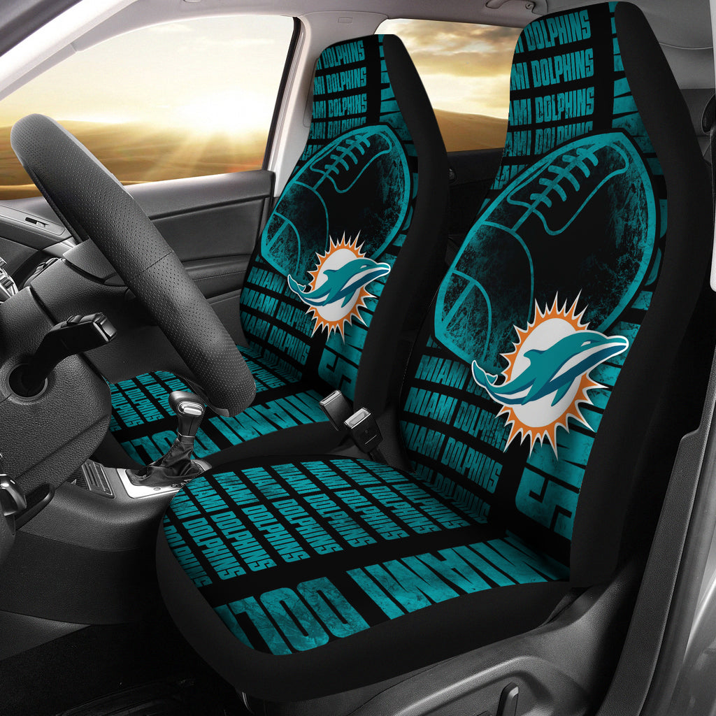 The Victory Miami Dolphins Car Seat Covers
