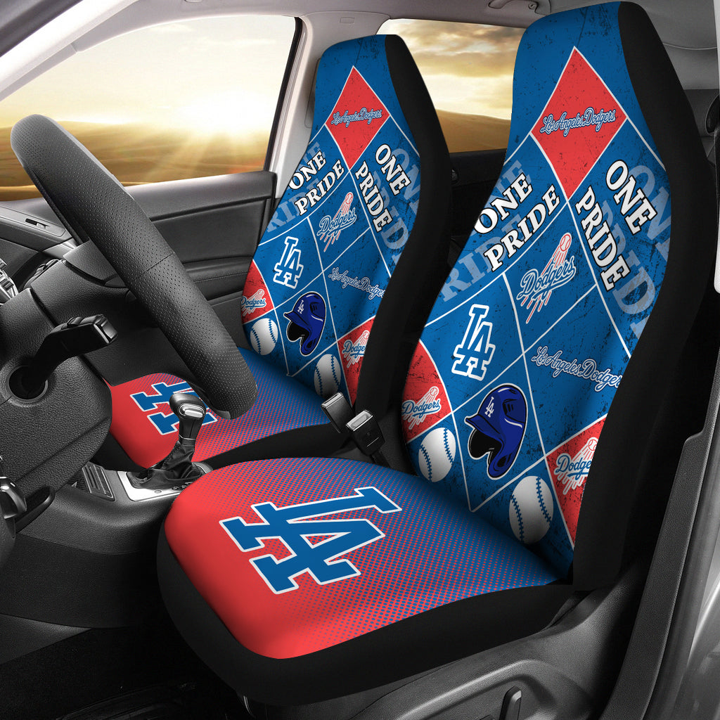 Pride Flag Los Angeles Dodgers Car Seat Covers